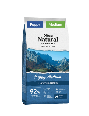 Dibaq Natural Moments Puppy Medium 15Kg